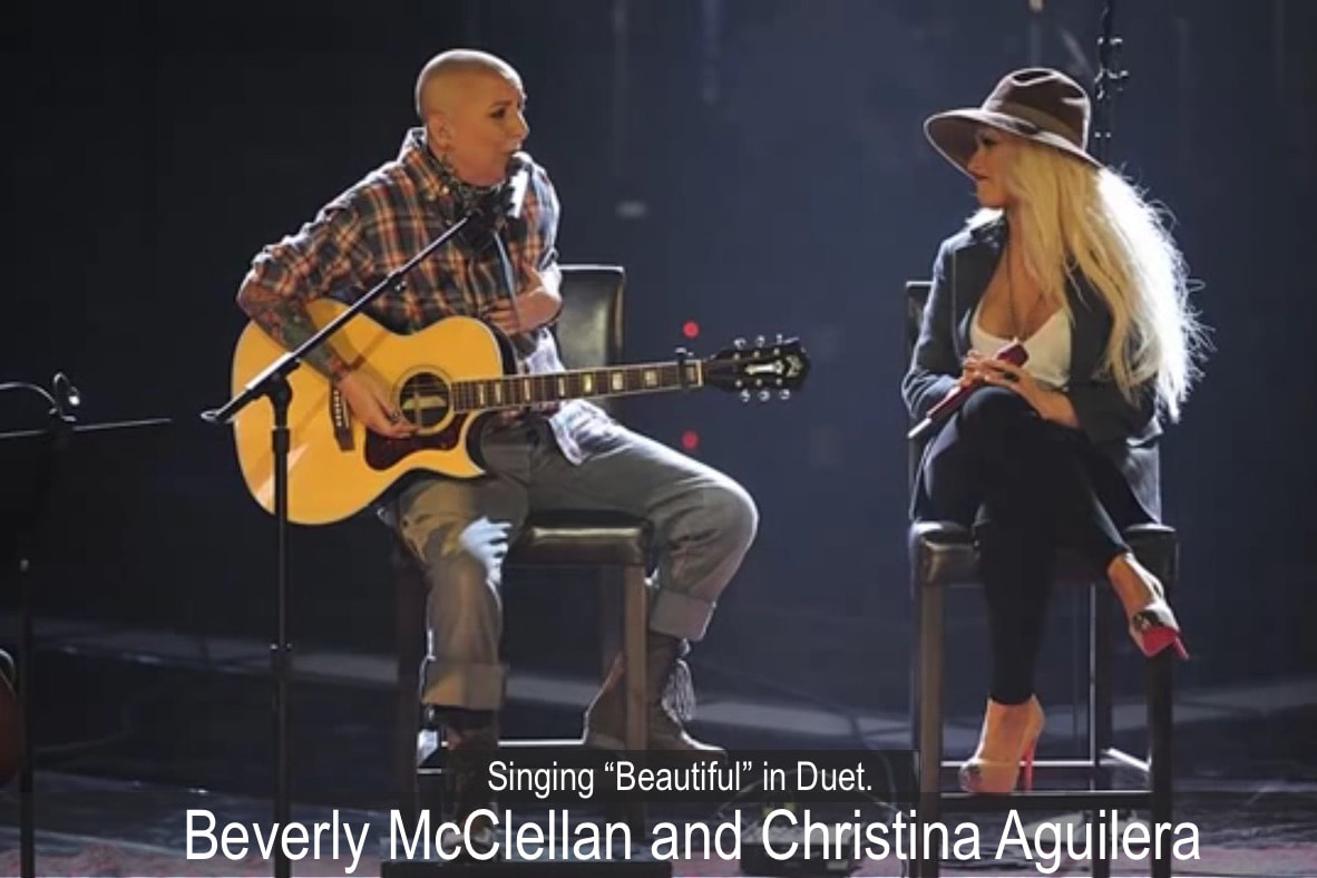 Beverly McClellan on The Voice singing with coach Christina Aguilera