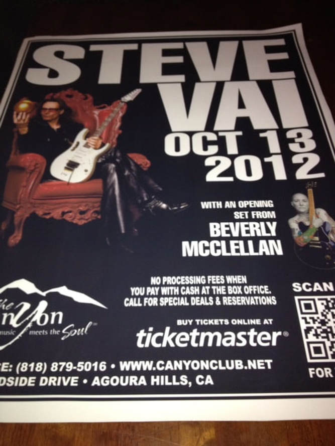 Steve Vai Tour with Beverly McClellan